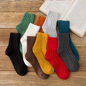 袜子女纯棉秋冬款堆堆袜百搭长袜
