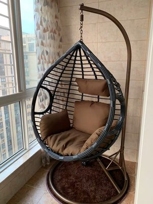 Hanging Chair single double hanging basket rattan chair bedroom hammock net red and autumn sunride rough vine cradle home continental hanging blue