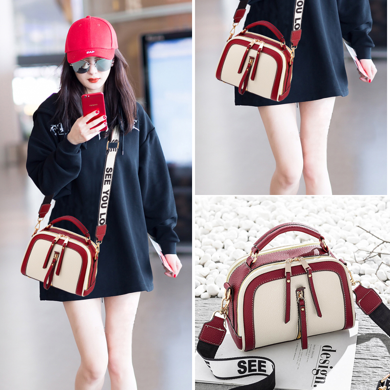 25b2397a58 ... Girls broadband bag female summer 2018 new wave Korean version of the  personality explosion models wild ...
