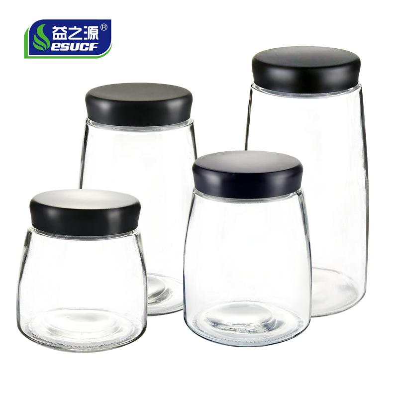 Печать бак стеклянные бутылки хранение бак кофе сухое молоко чай разное зерна бак кухня домой прозрачный еда хранение банка