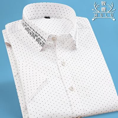 牧鹿男士商务薄款衬衫
