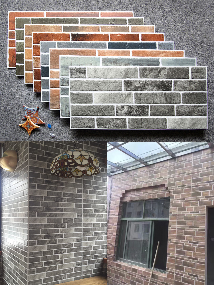 Green Brick Red Outdoor Wall Tile