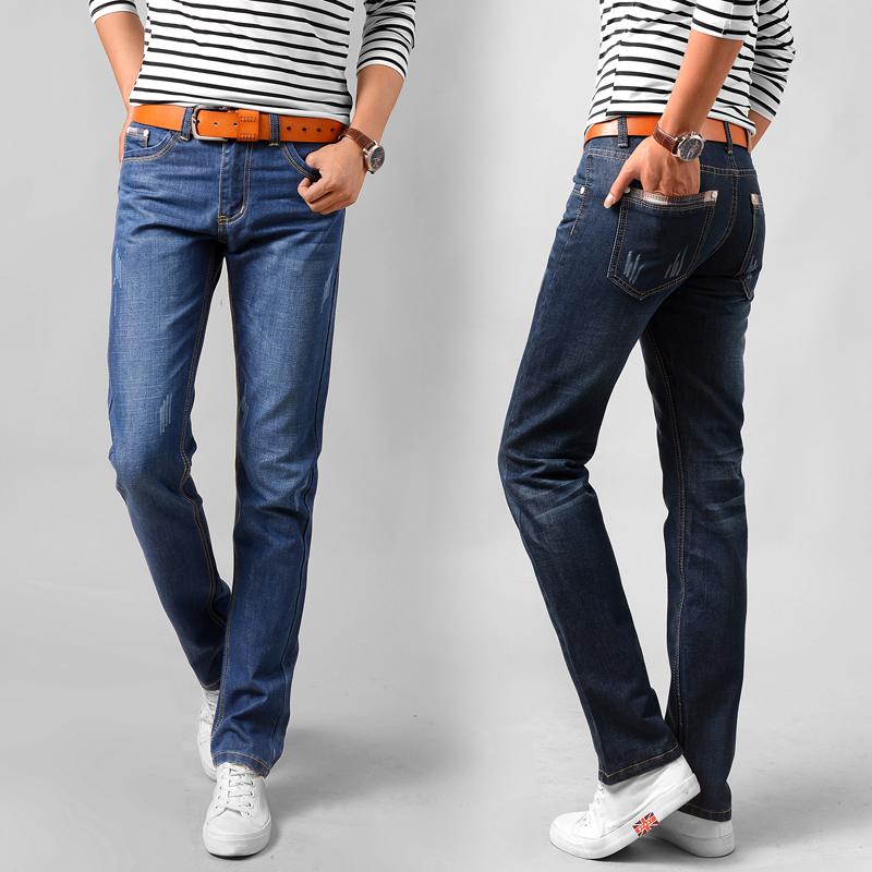 保暖裤秋季牛仔裤男士宽松直筒加绒加厚长裤男裤子休闲修身秋冬款