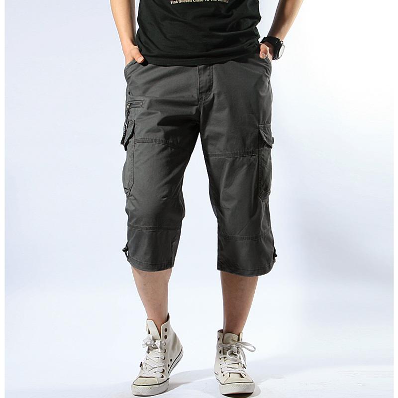 Летний комбинезон тонкий версия рыхлый большой размер шорты мужской множественный с карманами Трусы внешний для отдыха поклонник цвет 7 Сплит штаны мужской