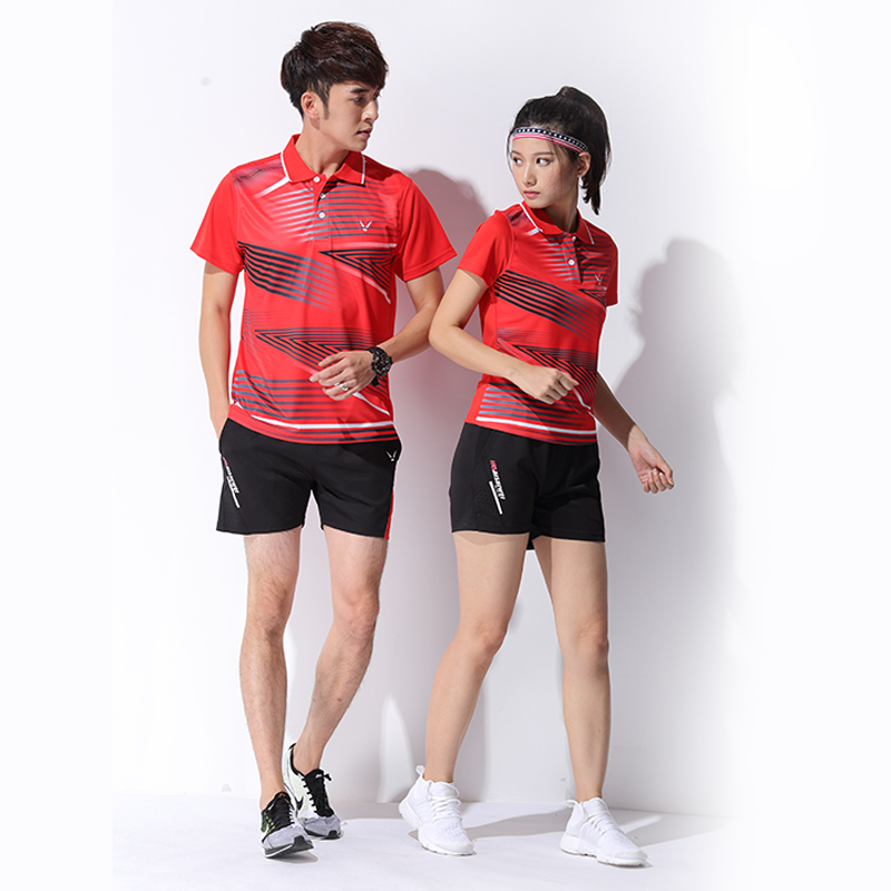 100ee0f45 Badminton clothing suit men and women short-sleeved sportswear quick-drying  breathable couple models badminton clothes ...