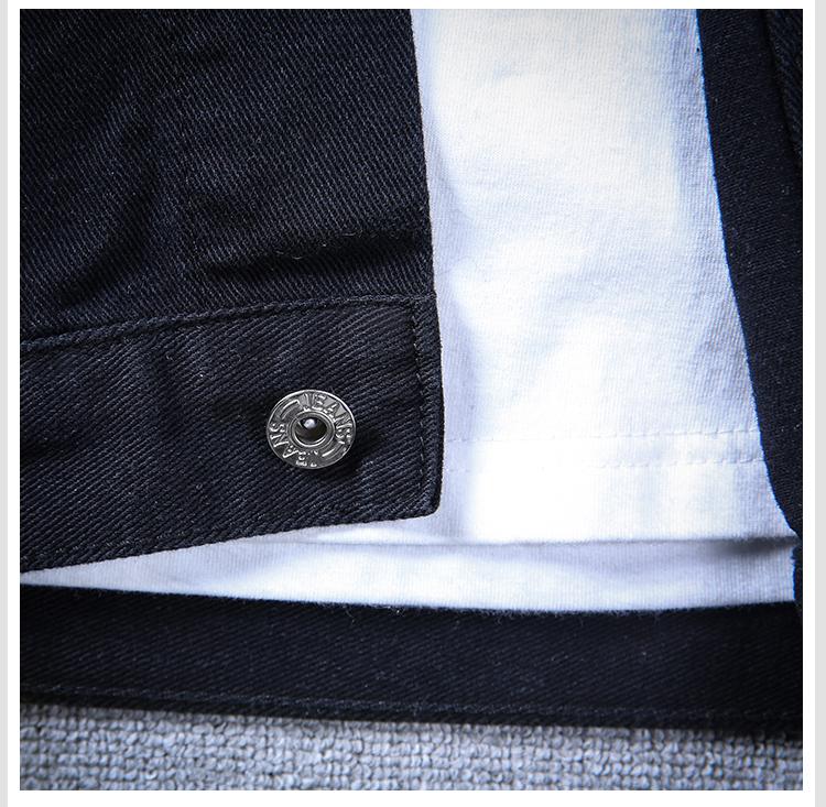 加肥 加大码 S-5XL 男士 牛仔夹克外套 926 黑色P50 浅蓝P45