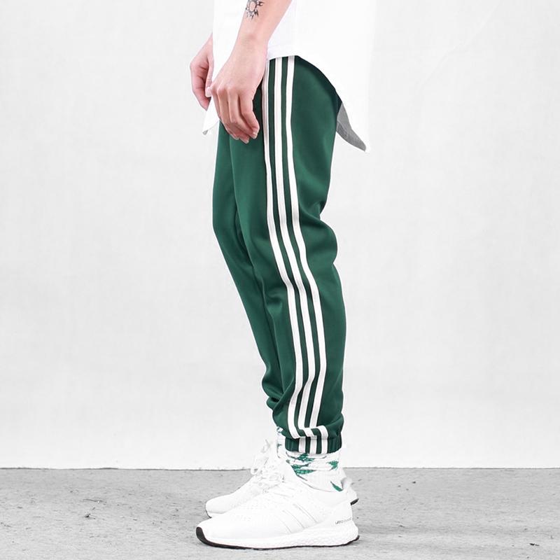 春夏季裤子潮牌三道杠男女欧美运动裤薄款嘻哈束脚裤大码休闲情侣