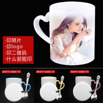 With cover Spoon DIY photo cup custom print logo word customization system