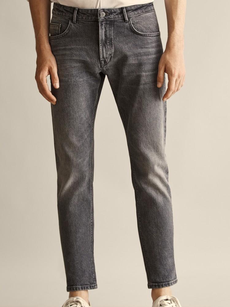西班牙正品代购 massimo dutti 男士 石洗刷纹牛仔裤 0058058