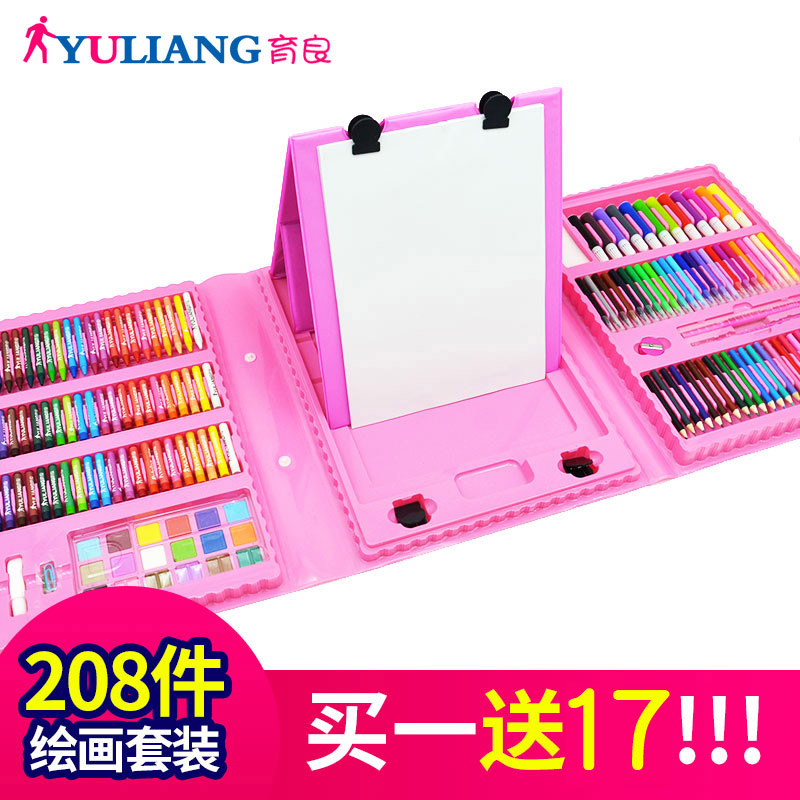 208 pieces of pink double drawing board + gift bag  buy one get 17
