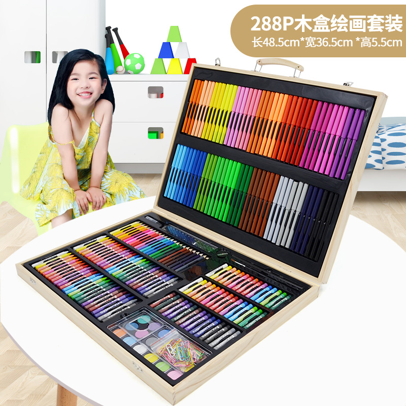 288 wooden box painting set + gift bag  buy one get 17