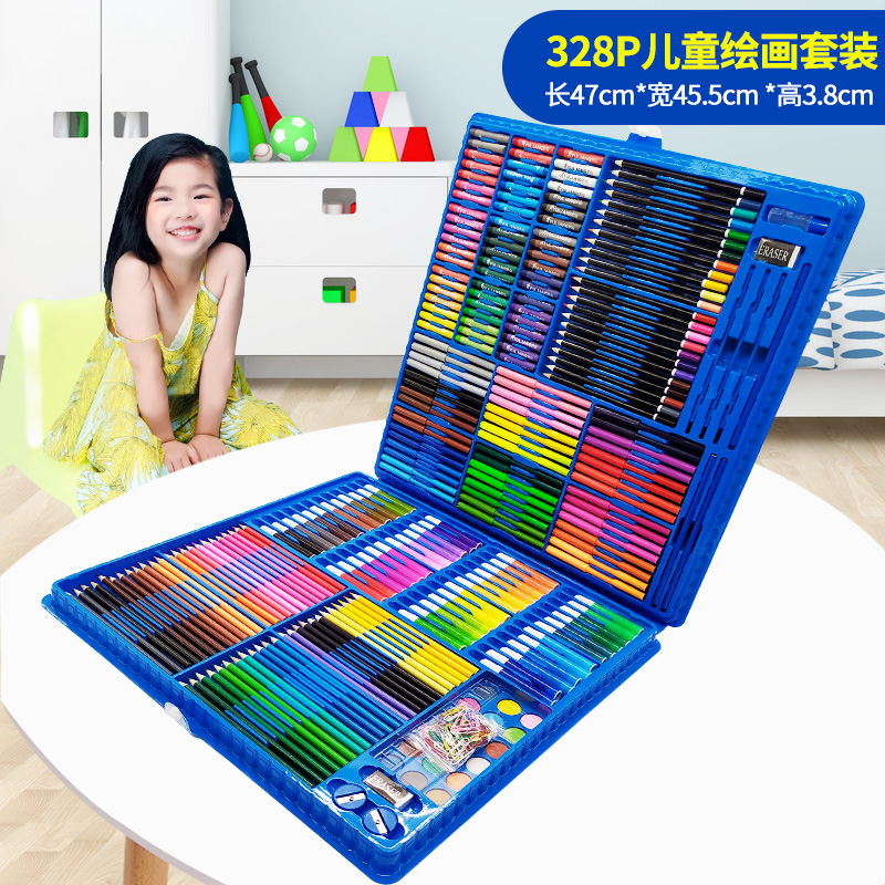 328 PIECES OF BLUE PAINTING SET + GIFT BAG  BUY ONE GET 17