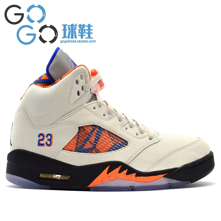 ... 5b43a 880d6 GOGO Sneakers Air Jordan 5 Knicks Blue Orange 136027-148  599581-007 ... 5c4317ade6