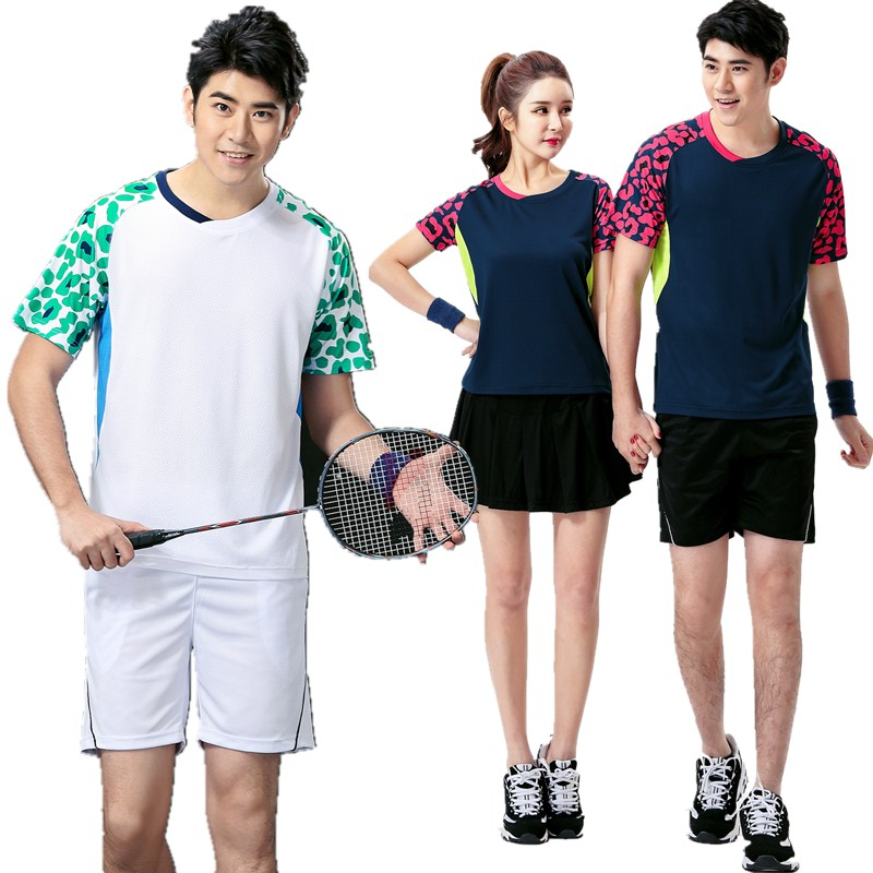 26a3714b5 Genuine badminton suit men and women summer round neck short-sleeved T-shirt  couple quick-drying small new sportswear printing