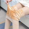 Spring and autumn female Korean version of the meat color leggings socks plus velvet thick legs invisible magic thin section was thin wearing artifact winter