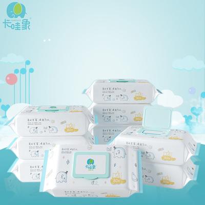 卡哇象加厚婴儿湿巾80抽5大包装