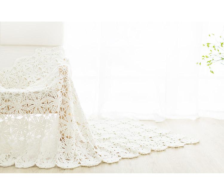 清新法兰西菊拼花毯子 - 壹一 - 壹一编织博客