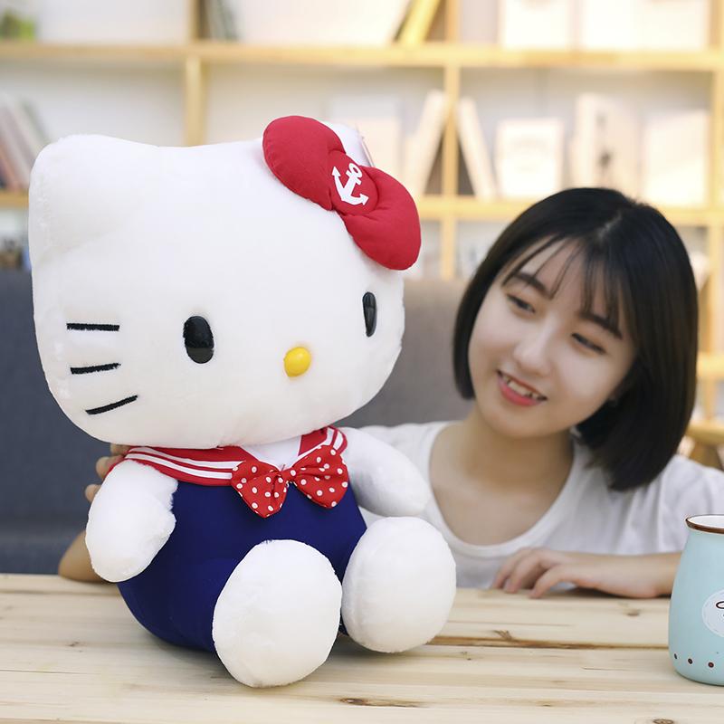 正版HelloKitty毛绒玩具情侣海军KT公仔猫咪娃娃玩偶生日礼物女生