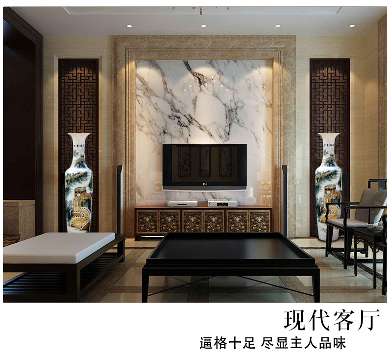 Jingdezhen ceramic wanli glory hand - made wall of large vases, sitting room of Chinese style hotel furnishing articles act the role ofing is tasted