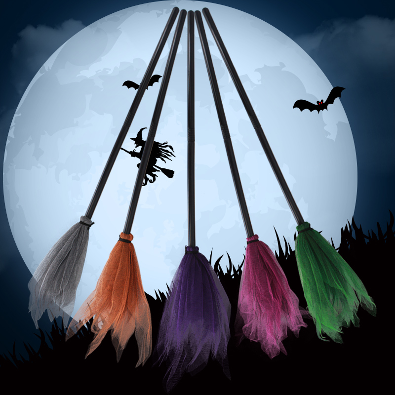 Children's Day witch Witch prop Cute cos Makeup Ball Party wizard Harry Potter flying broom