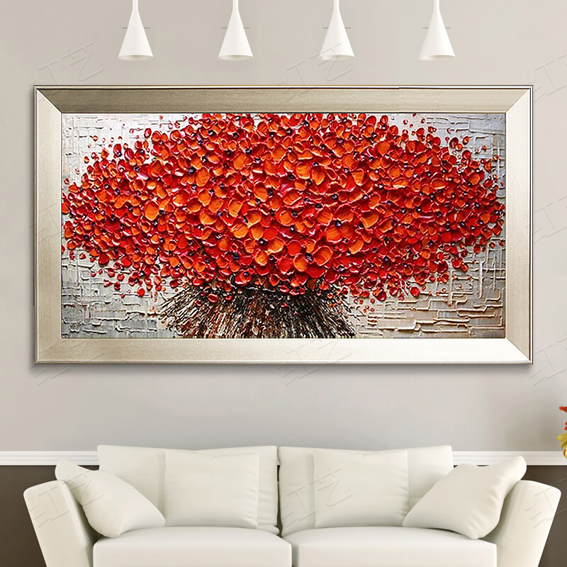Pure Hand Painted Oil Painting Living Room Decorative Horizontal Version Of The Modern Simple Abstract Mural Bedroom Bed Paintings Money Tree
