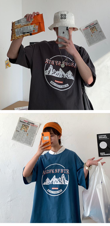 2020港风新款男短袖T恤时尚休闲半袖圆领潮印花宽松A139-142-P22