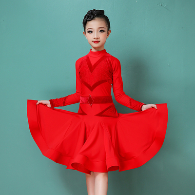 Girls Latin Dance Dresses Girls' Latin Dance Costume competition dress professional performance Dance Costume performance dress female