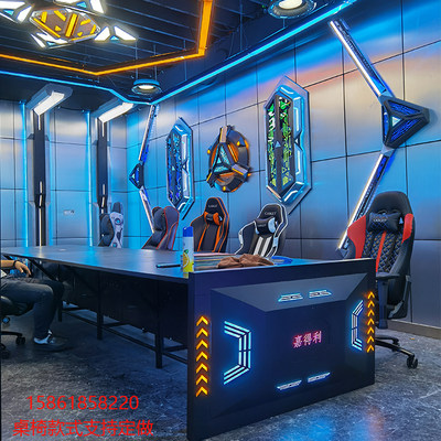 E-sports hotel Internet cafe single desktop office computer desk Internet cafe sofa chair water-cooled chassis combination can be customized