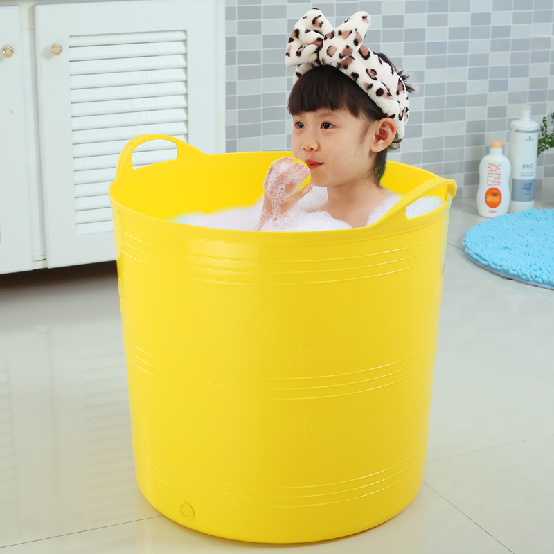 USD 19.21] Extra large baby bath tub child Bath bucket plastic extra ...