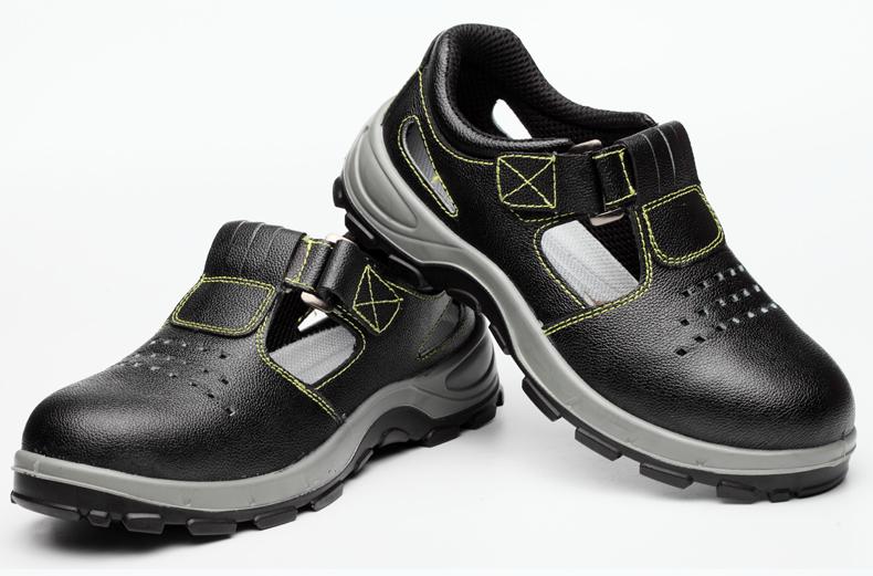 Deodorant thở an toàn mùa hè giày dép nam Baotou Steel chống đập-piercing chống giày công việc nhân viên bảo hiểm cũ giày nhẹ