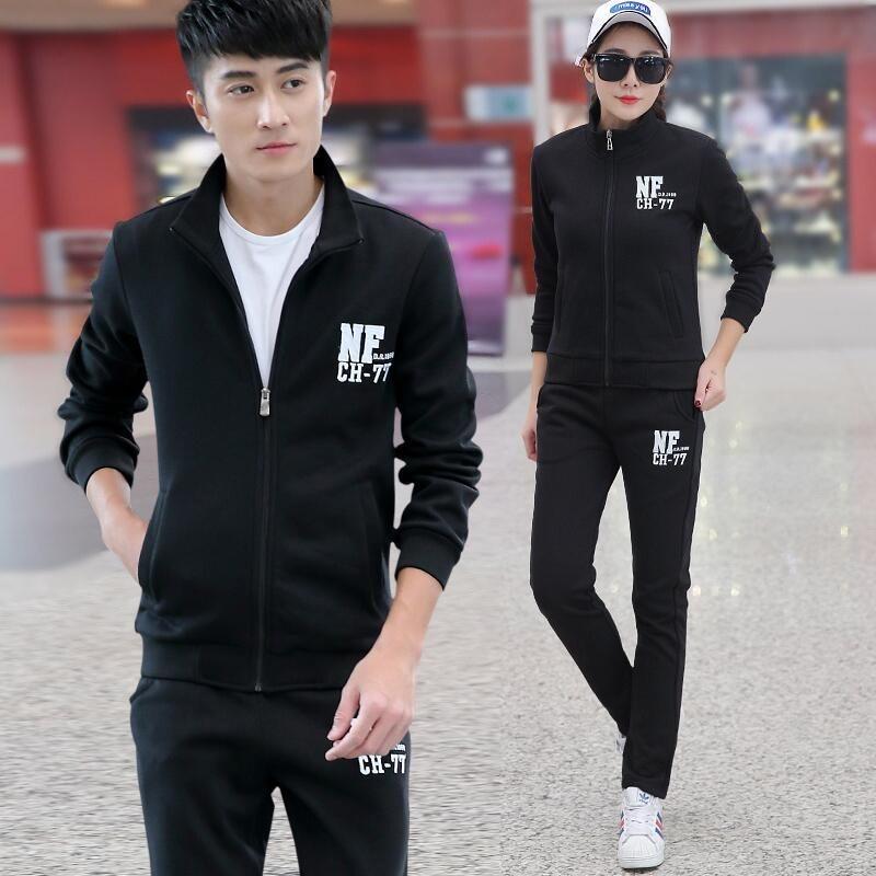 男士运动套装春秋季休闲两件套青年运动装长袖卫衣跑步运动衣服装