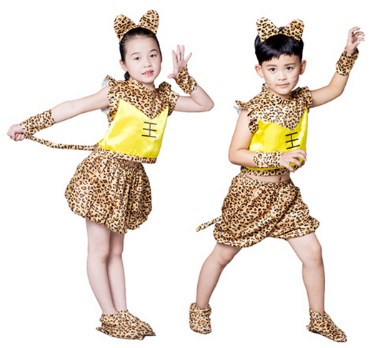 Children's Savage Performance Costume Hunter Dance Costume King called me to tour the mountain Indian leopard dance costume
