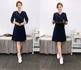 Beautician work clothes fashion summer new style massage technician clothes female SPA health club beauty salon dress