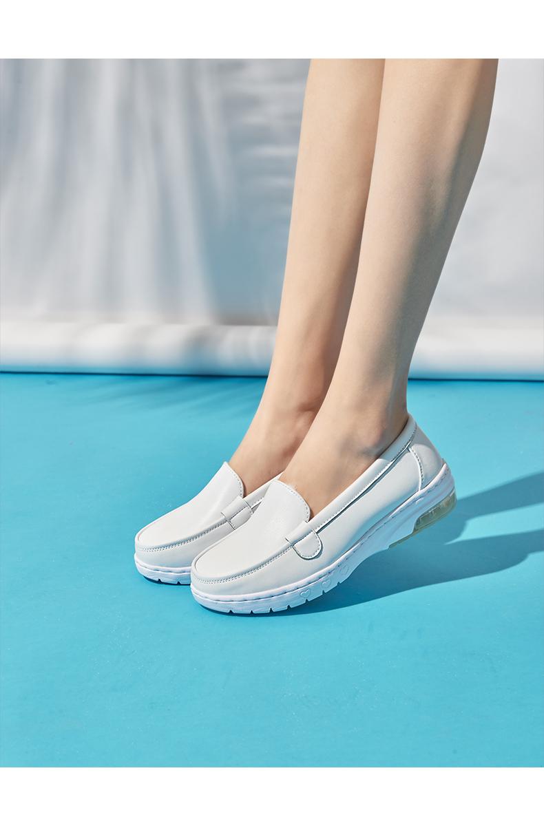Giày y tá trắng - giày búp bê cho nữ đế bằng- giày nữ y tá đẹp, đơn giản - Giày dép chuyên dụng cho nhân viên spa, nữ y tá, nữ điều dưỡng và nữ công nhân