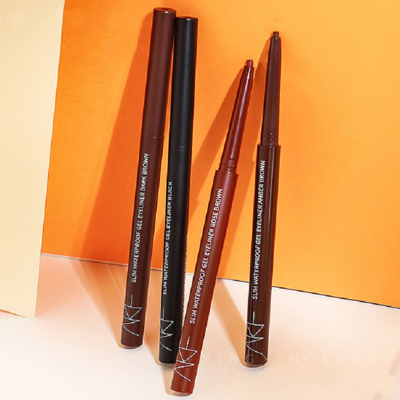 akf眼线胶笔极细棕色彩色持久防水不晕染新手初学者afk卧蚕笔液