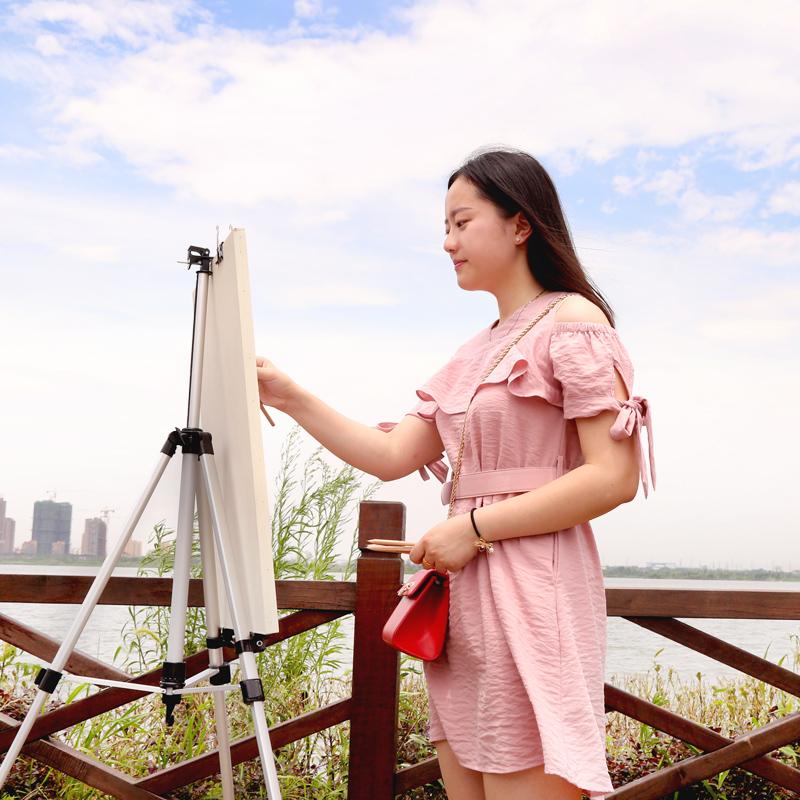 彩色铝合金画架画板套装折叠多功能落地画架子 支架式便携画画素描套装成人学生画架素描画架画板套装