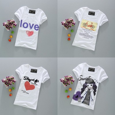 10 yuan ladies summer new clothes special 19.9 yuan cotton primer shirt short-sleeved women t-shirt half-sleeved