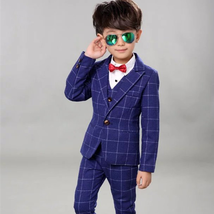 03fbb31b Boys suit three-piece suit 2 Autumn and winter 3 children's suits tide ...