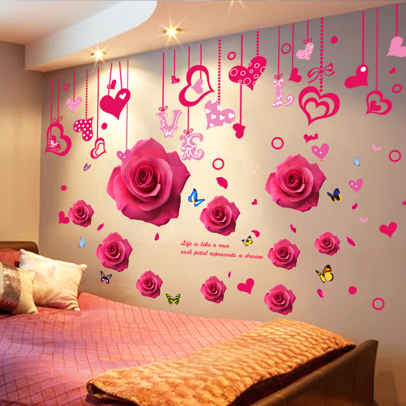 usd 13.77] 3d three-dimensional warm wall stickers stickers bedroom