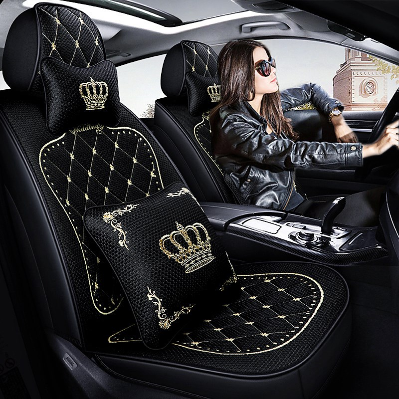 座套四季坐垫通用全包座垫思域英朗骐达座椅套夏季冰丝v座套汽车女