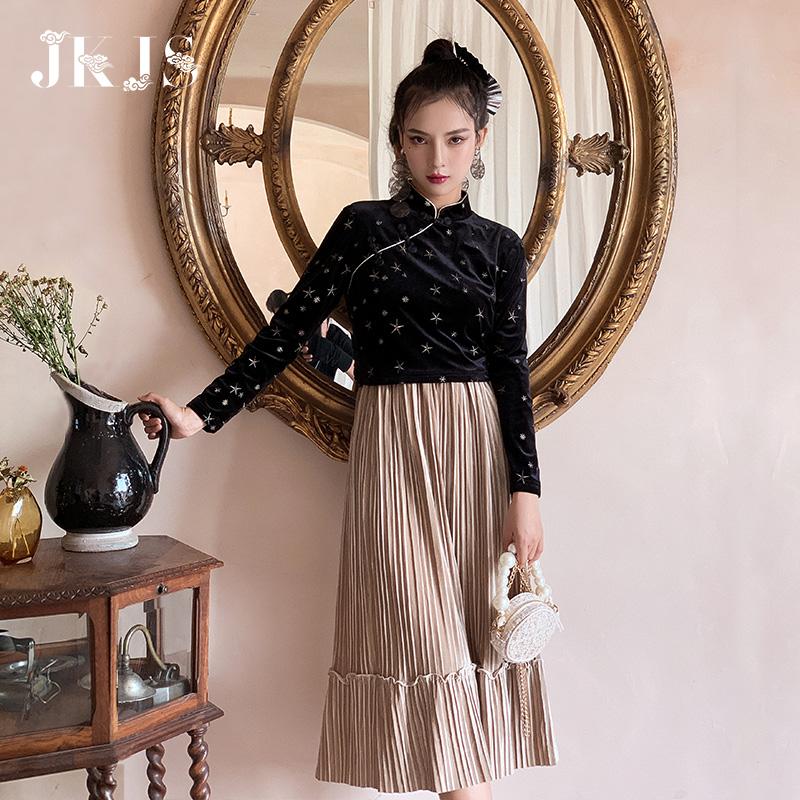唐装女时尚改良版民国风复古女装盘扣中国风汉服现代秋冬旗袍上衣