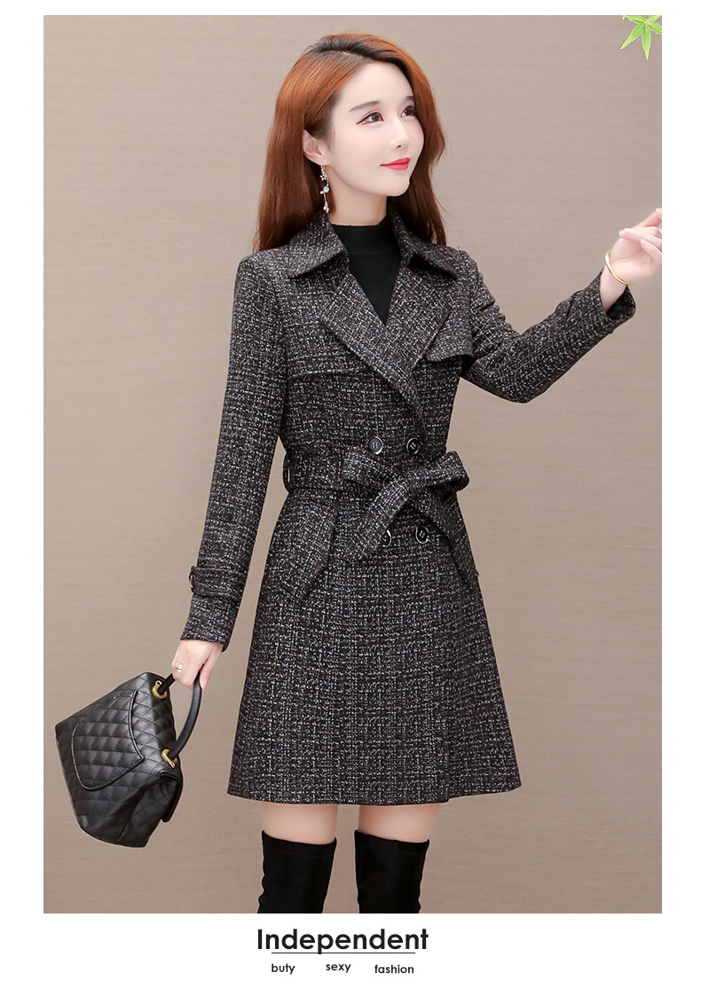Women's windshield 2020 new spring and autumn fashion Korean version show thin tie with double-row button small jacket jacket 61 Online shopping Bangladesh