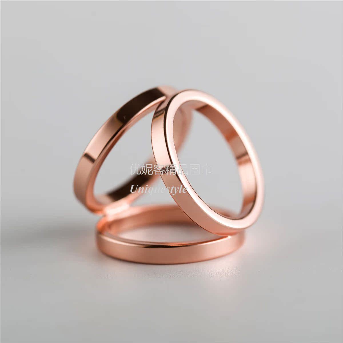 Цвет: Три кольца розовое золото 2.4