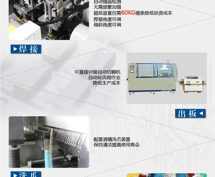 正邦全自动线路板浸焊机 PCB插件焊接焊锡机 有铅无铅线路板焊锡