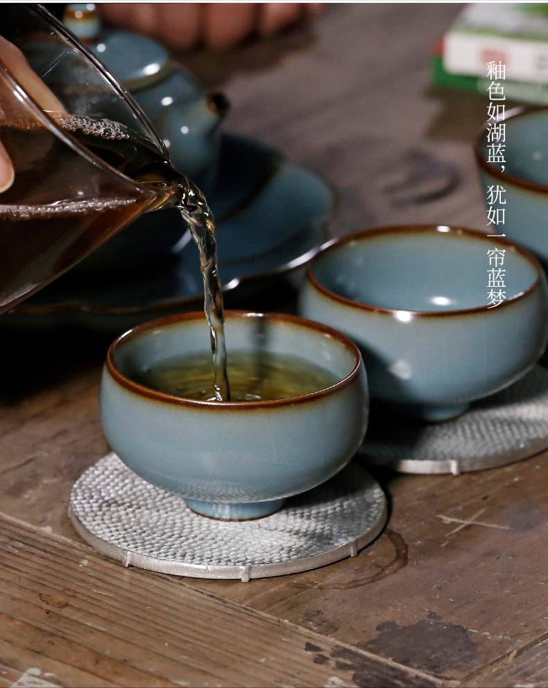 # your up west park lake blue ocean 's cup slicing can raise archaize kung fu small teacup master single glass ceramic cups of tea
