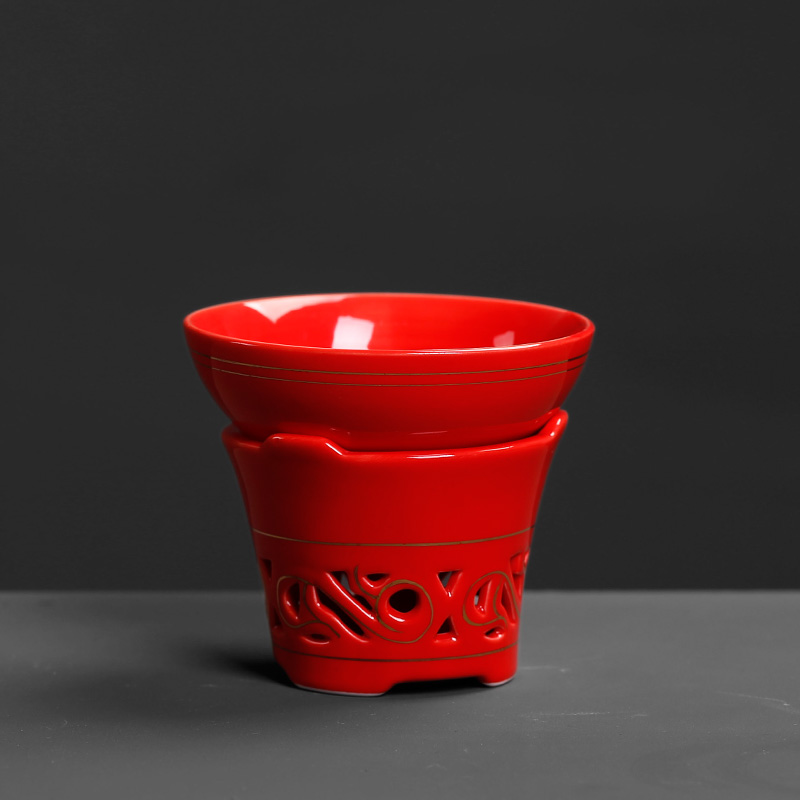 Ceramic) Chinese red tea filter) is to restore ancient ways of tea tea strainer kung fu tea shelf parts