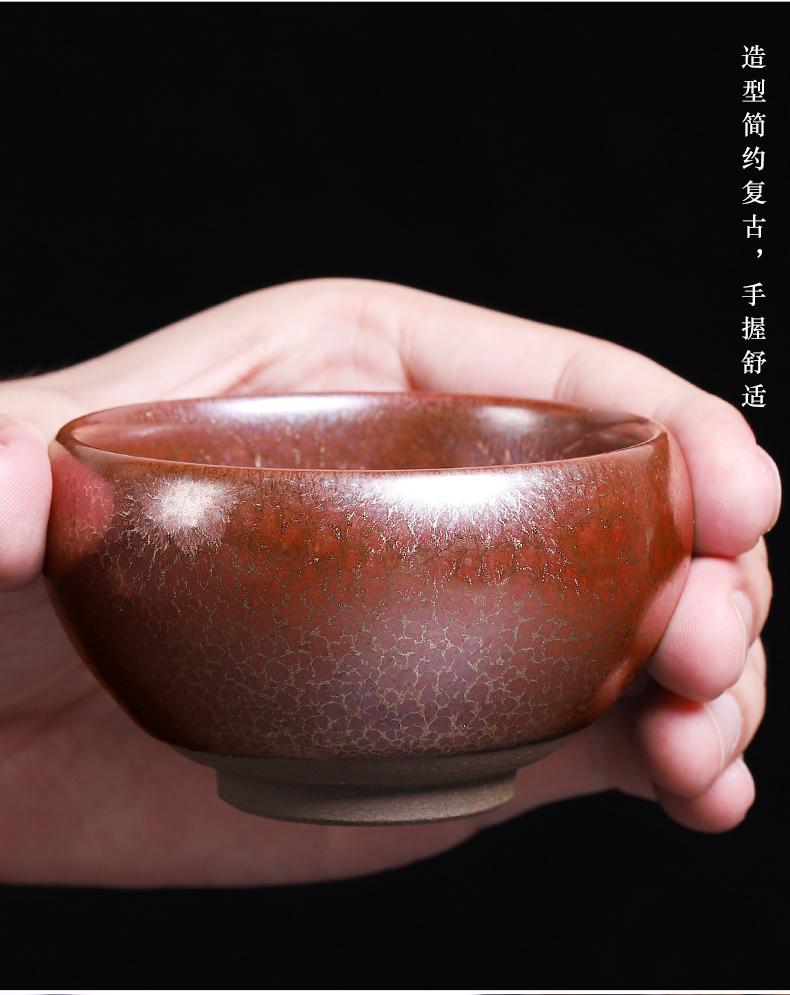 Build light tea tea set a single Mosaic gold dragon scale grain iron tyres, large household ceramic cups kung fu master sample tea cup