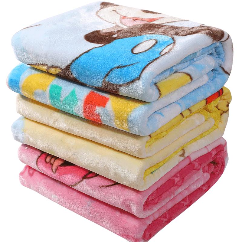 限100000张券迪士尼婴儿毛毯双层加厚冬季幼儿园宝宝云毯新生儿童盖毯被子礼盒