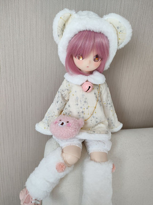 taobao agent {Spot}mdd msd bear girl rabbit girl bjd baby clothes 1/4 4 points doll clothes suit soft bear