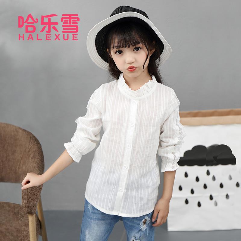 2018女童春夏刺绣韩版公主衬衫
